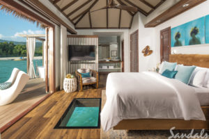 Sandals White House Over Water Bedroom