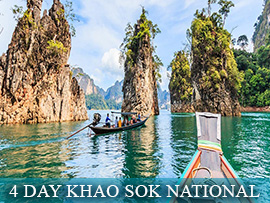 4 Day Khao Sok National Park Elephant & Rainforest Adventure - Thailand