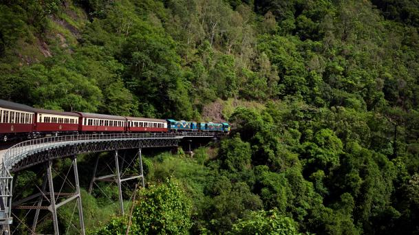 Kuranda Scenic Railway, Stoney Creek Falls Bridge, Kuranda, QLD