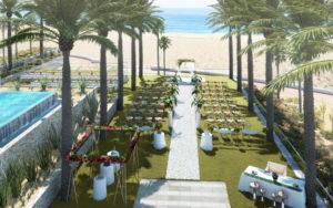 Hard Rock Cabos Wedding Setup 1