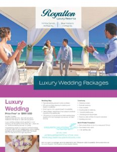 Royalton Blue Waters & White Sands Wedding Packages