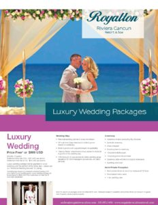 Royalton Riviera Cancun - Wedding Packages - Exquisite