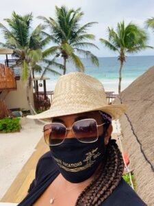 Mask on Vacation